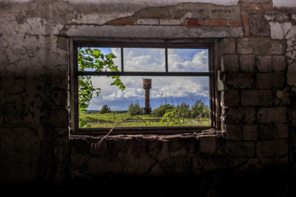 ventana, pared, edificio, viejo, abandonado, suciedad, 1707221958