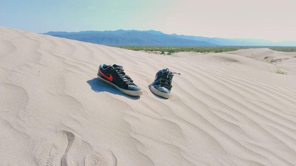 道路, 沙子, 海滩, 拖鞋, 沙漠, 沙丘, 1707061344