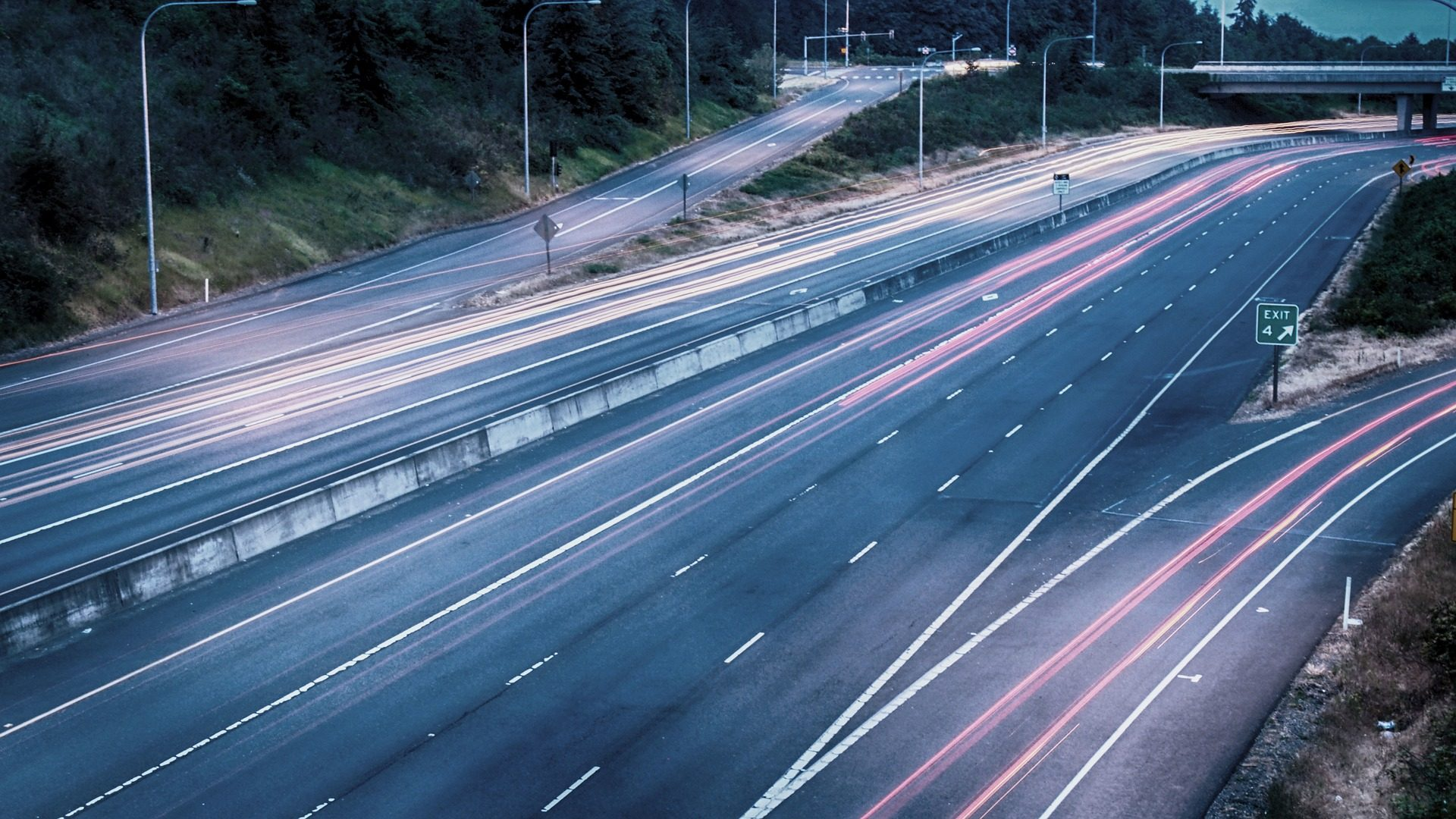 Autoestrada, Estrada, luzes, veículos, velocidade - Papéis de parede HD - Professor-falken.com