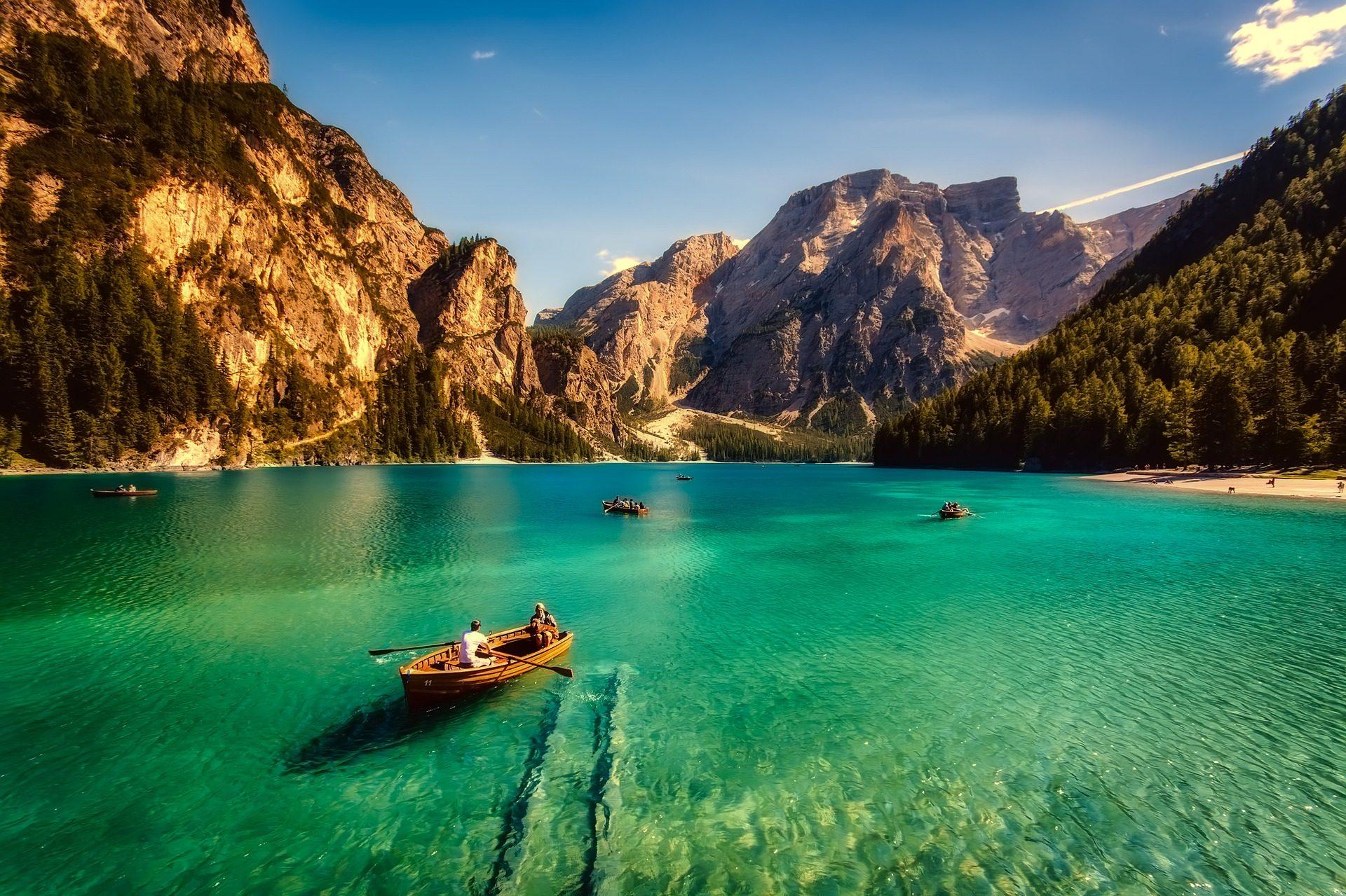 barcas, lago, mar, agua, turquesa - Fondos de Pantalla HD - professor-falken.com