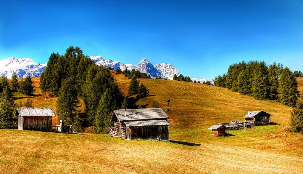 房屋, 小木屋, 木材, · 帕德隆, 山脉, 1708122351