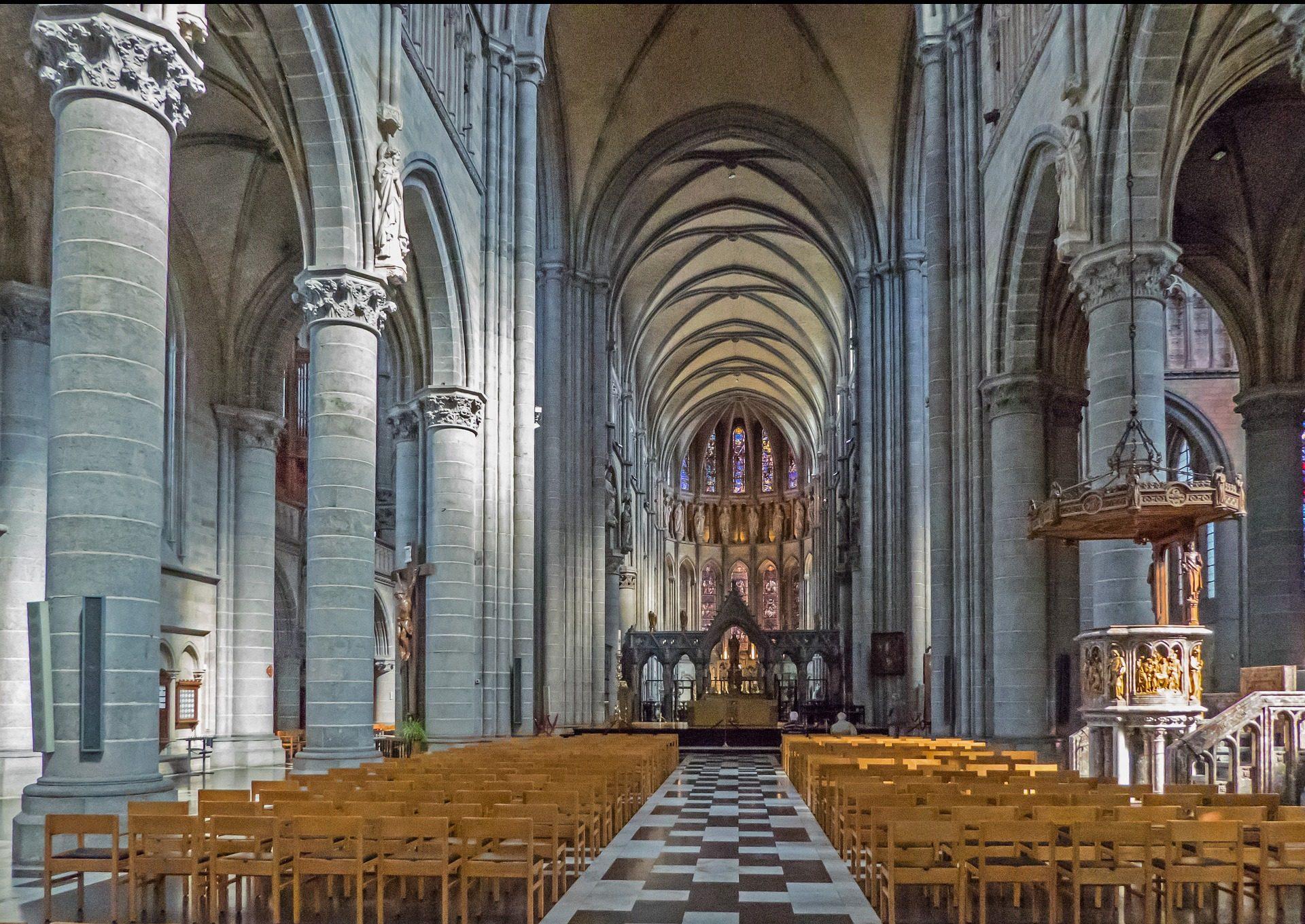 كاتدرائية, كنيسة, أركوس, السقائف, الدين - خلفيات عالية الدقة - أستاذ falken.com
