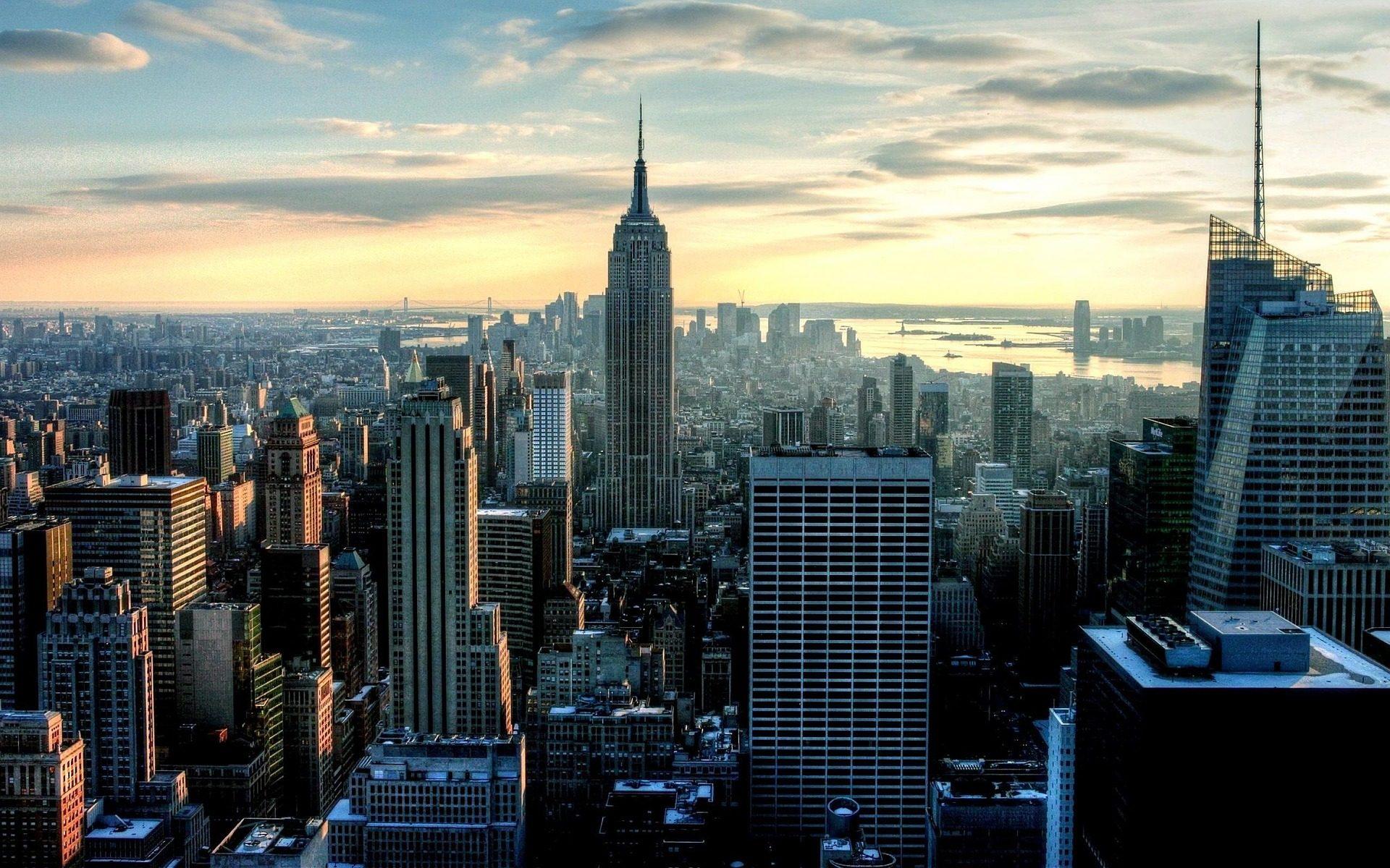 Cidade, arranha-céu, edifícios, Metrópolis, Céu - Papéis de parede HD - Professor-falken.com