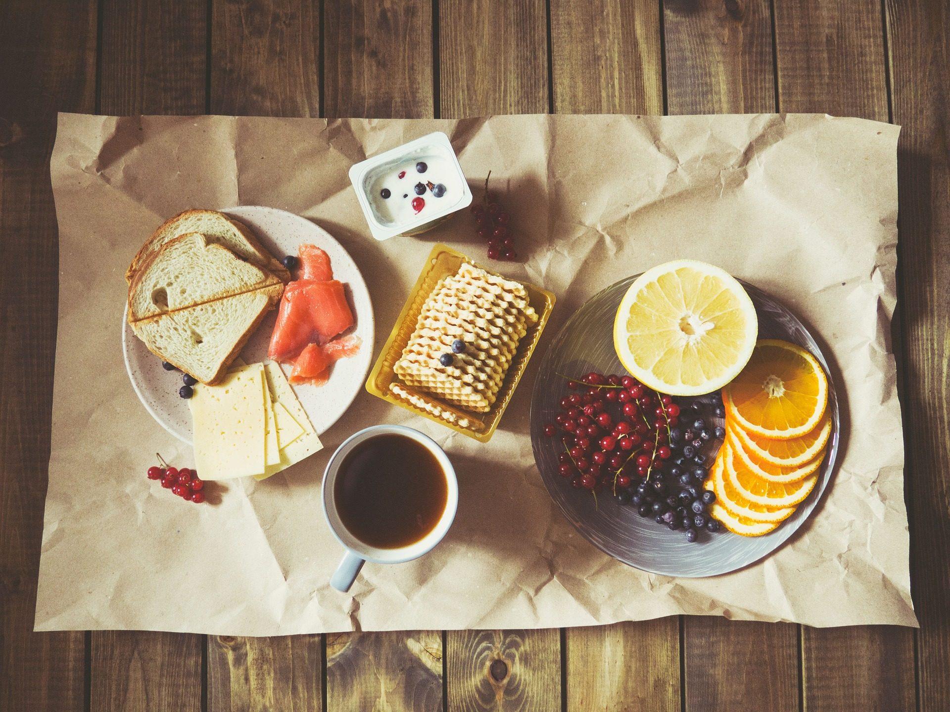 le petit déjeuner, fruits, Pain grillé, café, fromage - Fonds d'écran HD - Professor-falken.com