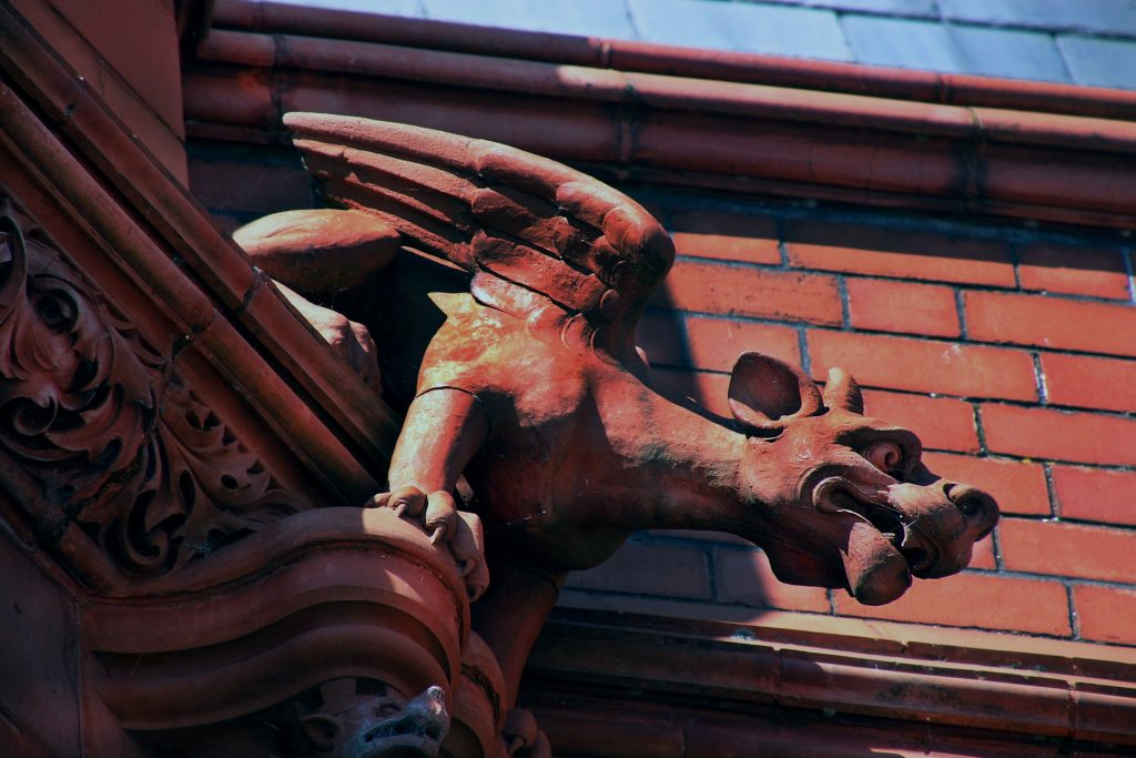 gárgola, άγαλμα, κτίριο, γλυπτική, φτερά, 1708201117