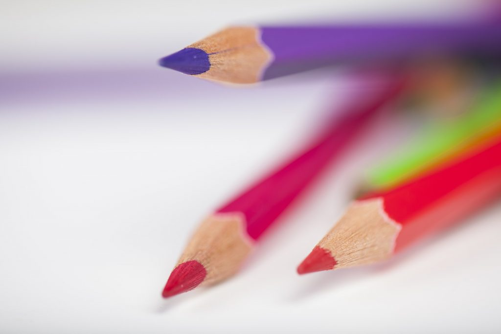 lápices, colores, puntas, madera, de cerca, 1708261044