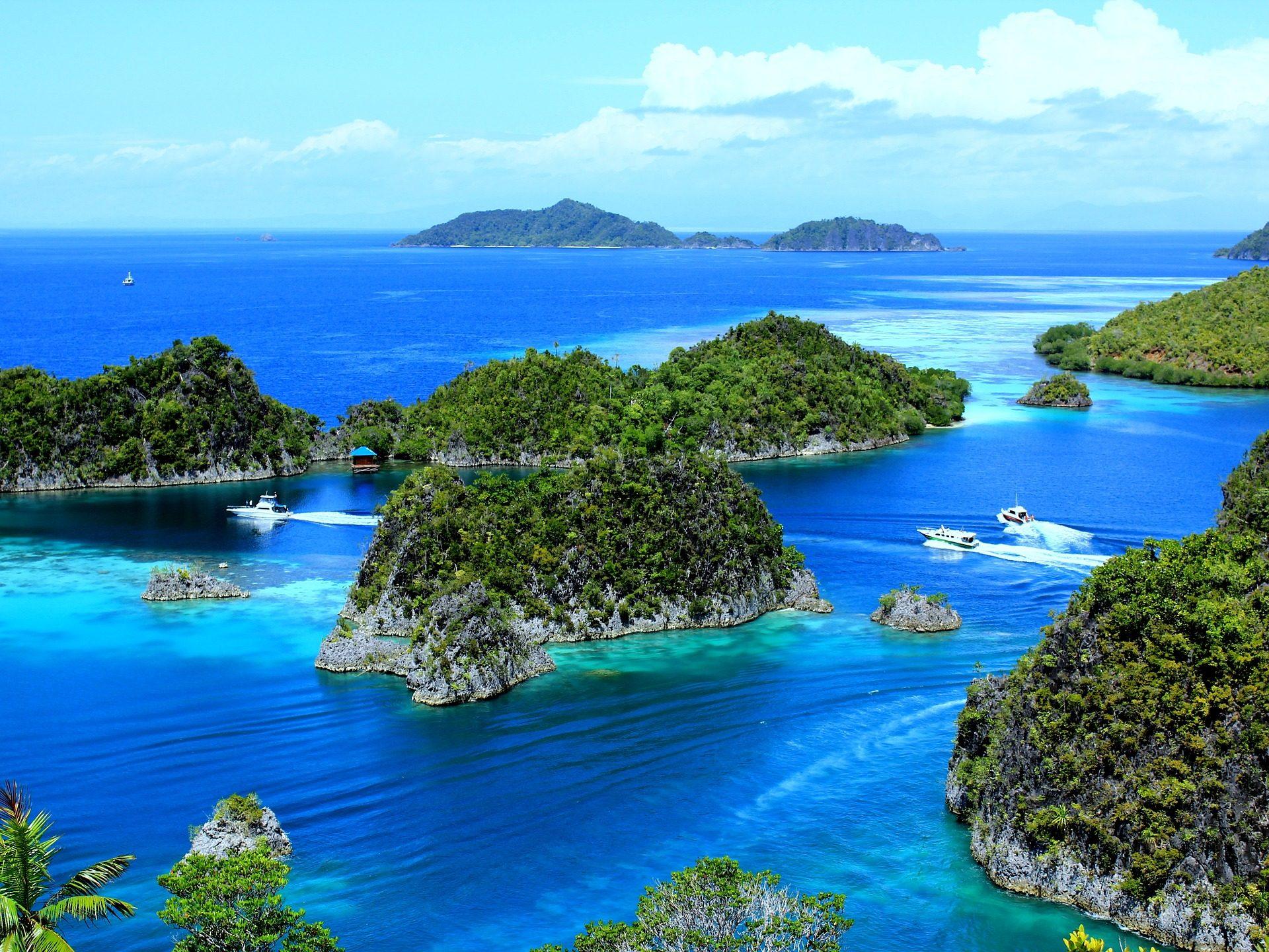 海, 群岛, 小岛, 绿松石, 植被 - 高清壁纸 - 教授-falken.com