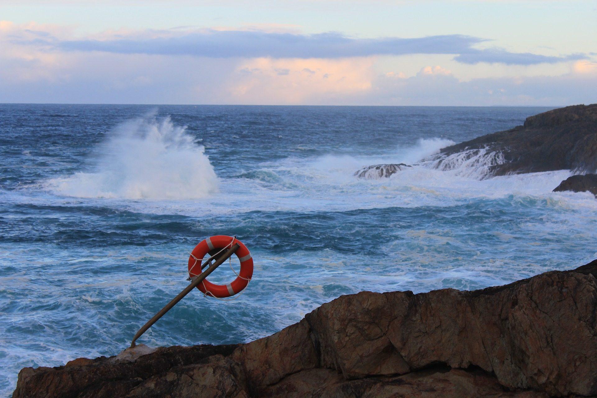 Море, Океан, волны, Rocas, Спасатель, риск - Обои HD - Профессор falken.com