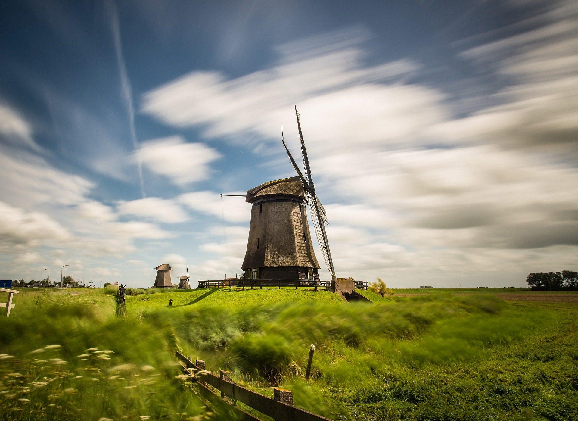 Μύλος, Άνεμος, PRADO, σύννεφα, ξύλο - Wallpapers HD - Professor-falken.com