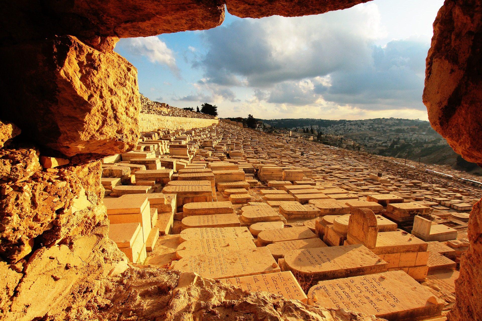 Монтанья, надгробные камни, Rocas, Масличная гора, Иерусалим - Обои HD - Профессор falken.com