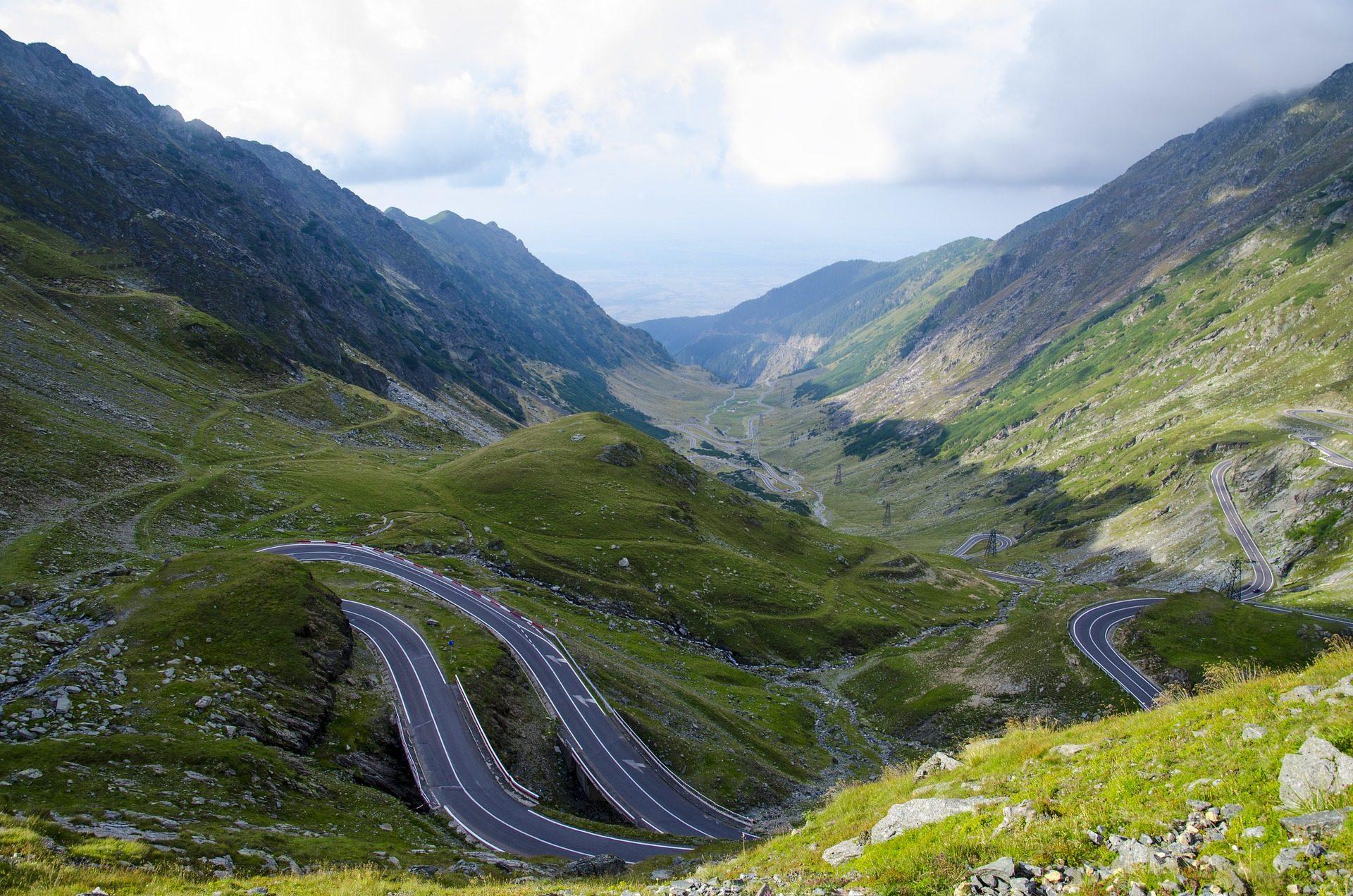 montanhas, carretera, curvas, viagens, viagem, Estrada - Papéis de parede HD - Professor-falken.com