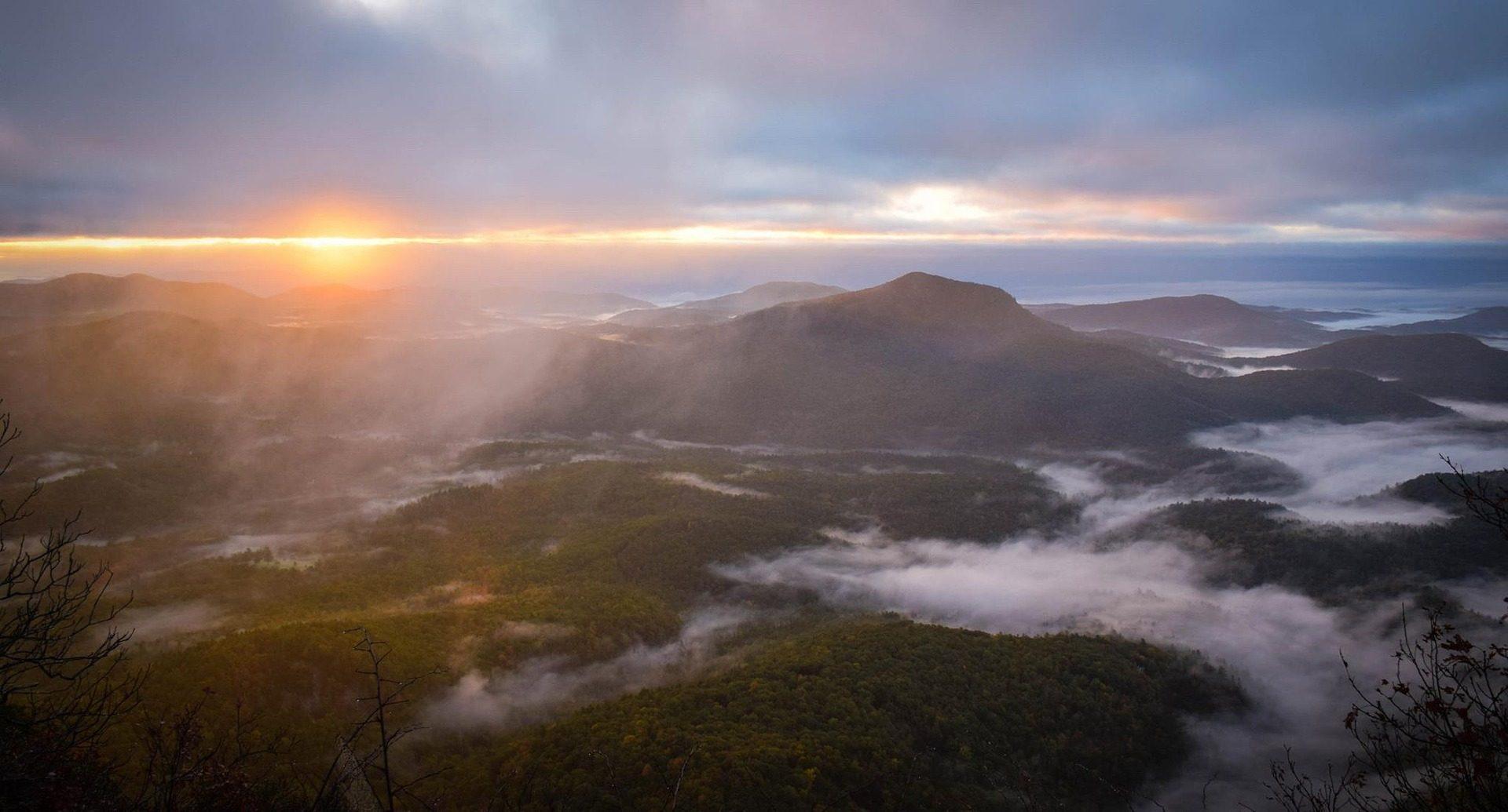 горы, облака, Высота, Горизонт, Солнце - Обои HD - Профессор falken.com