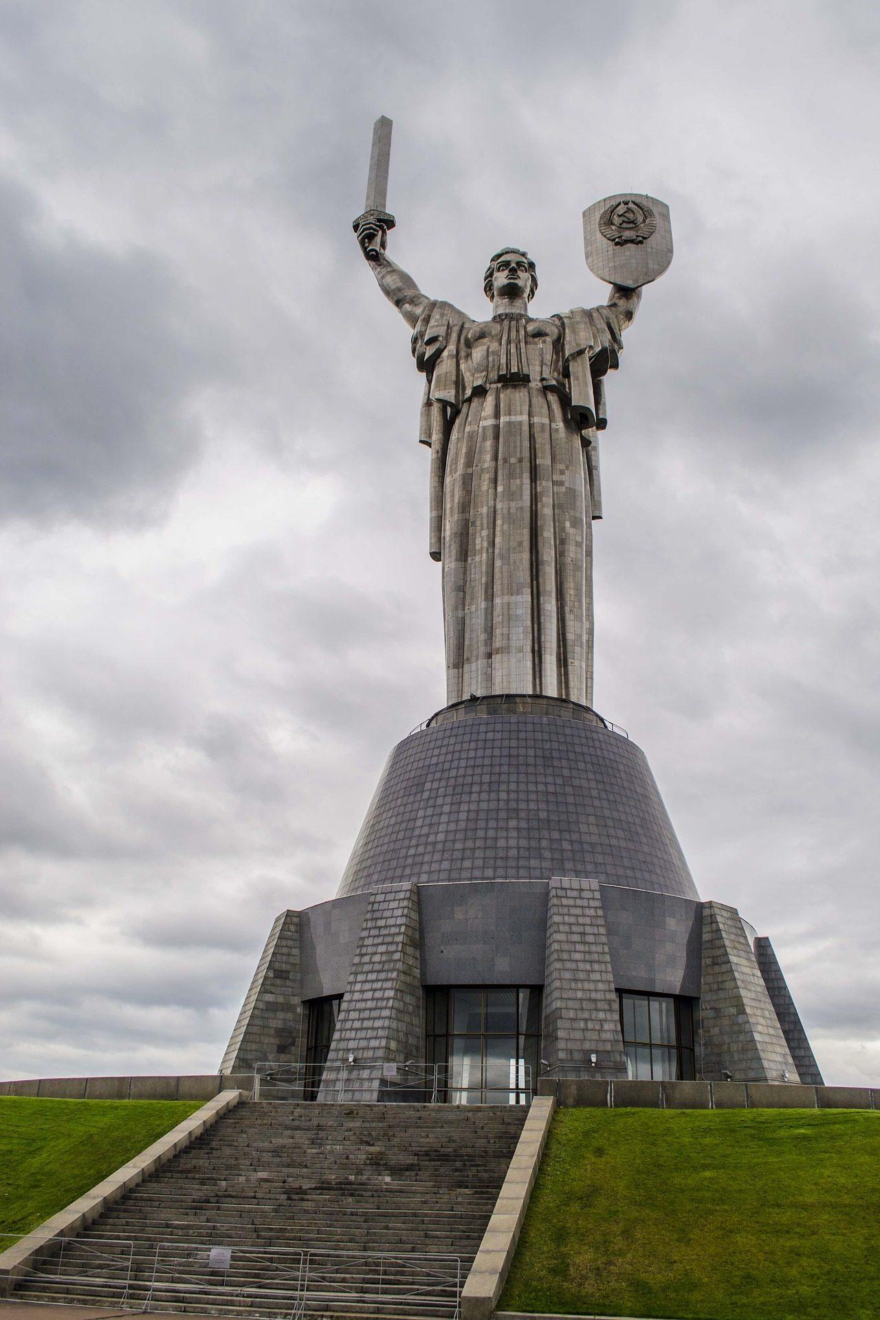 Памятник, Статуя, меч, металл, Киев - Обои HD - Профессор falken.com