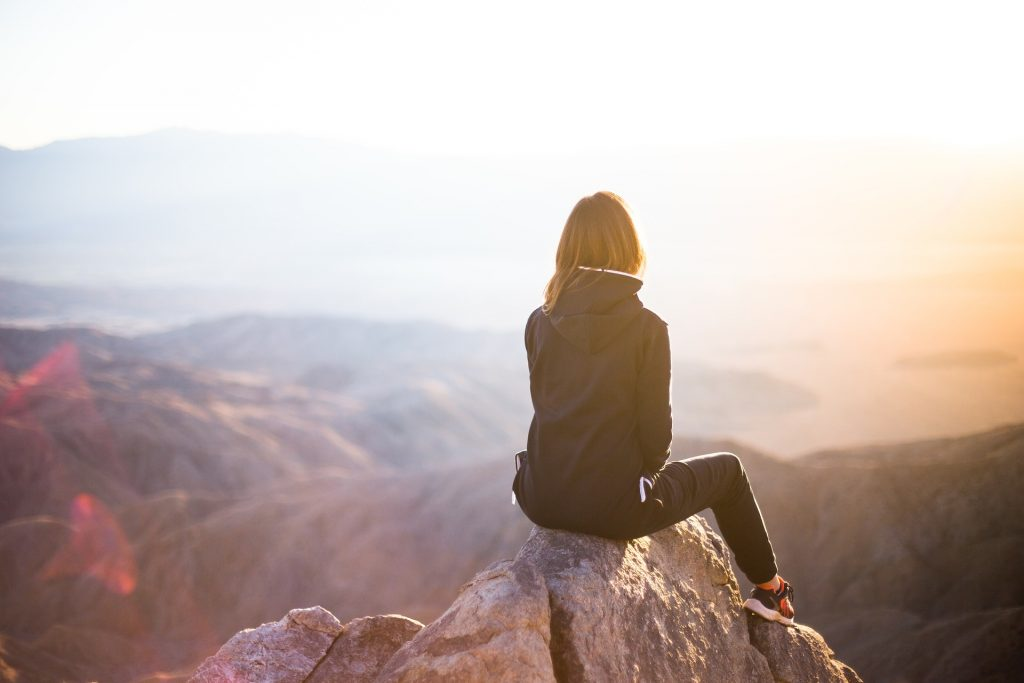 mujer, pico, montaña, cima, altura, 1708221026