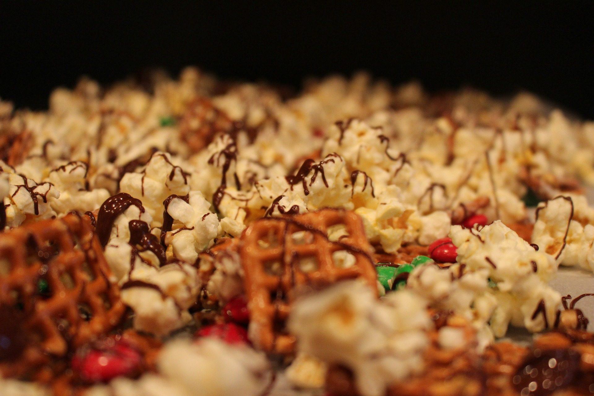 ポップコーン, キャンディ, 甘い, チョコレート, プレッツェル, スナック - HD の壁紙 - 教授-falken.com