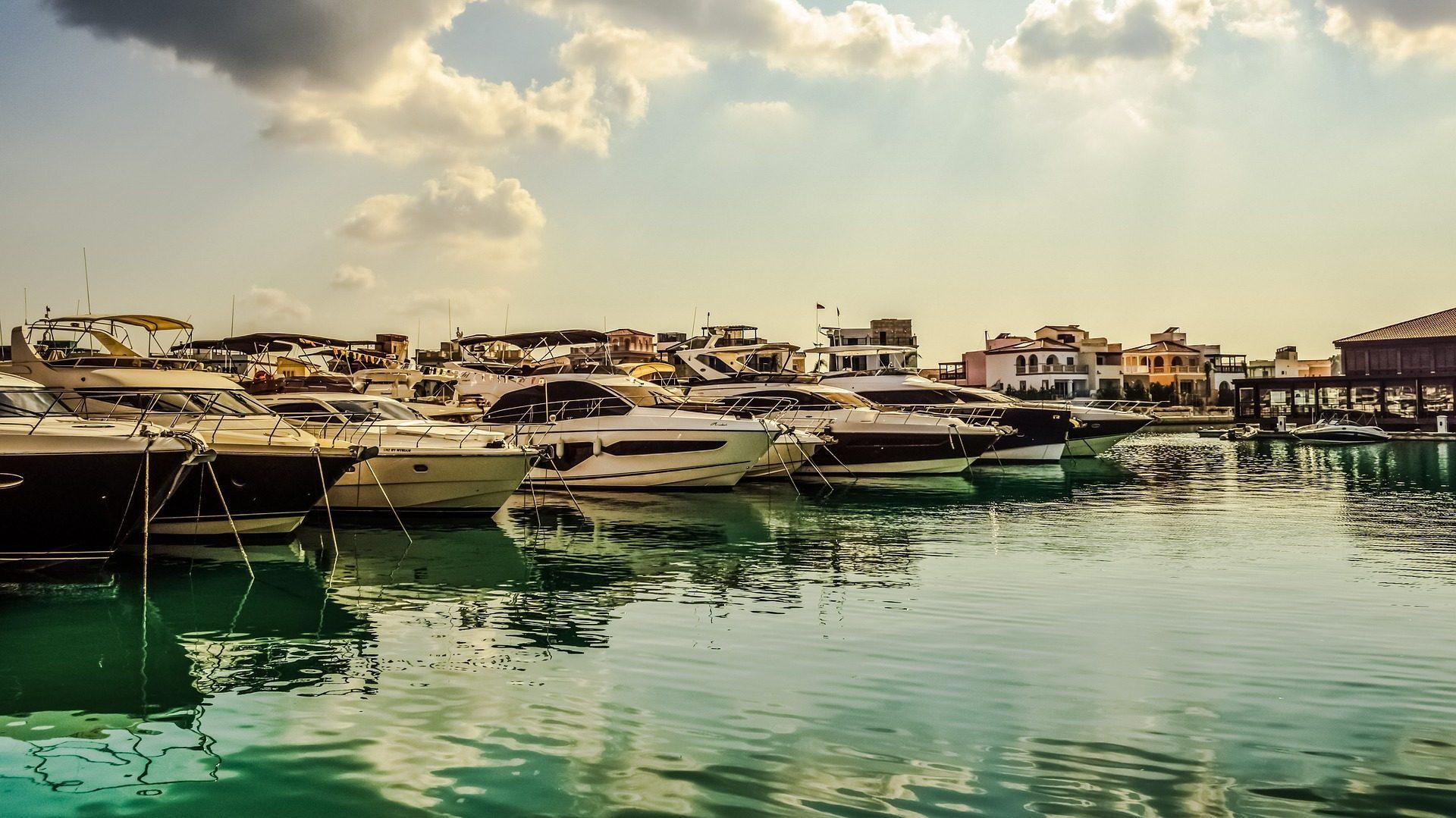 منفذ, البحر, barcos, botes, قوارب - خلفيات عالية الدقة - أستاذ falken.com
