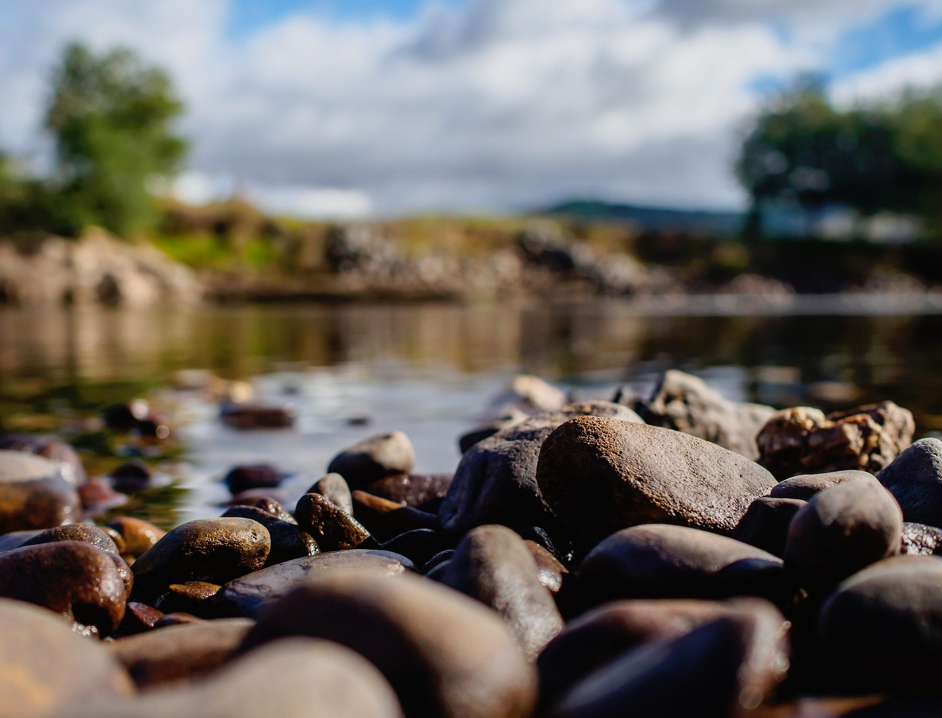 río, piedras, rocas, campo, agua, de cerca - Fondos de Pantalla HD - professor-falken.com