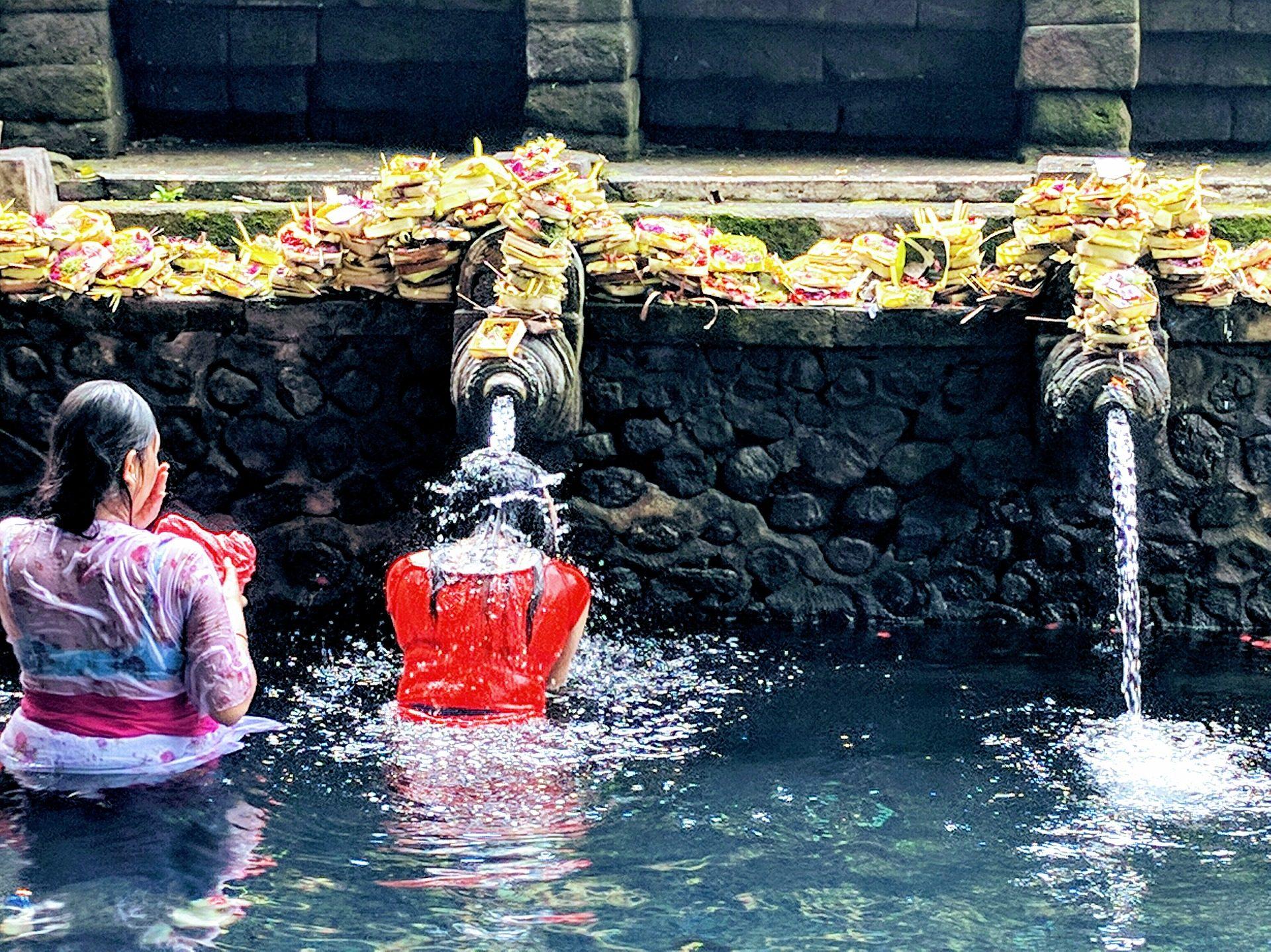 Ναός, μπάνιο, νερό, καθαρή tirta empul, Μπαλί, Ινδουιστής - Wallpapers HD - Professor-falken.com