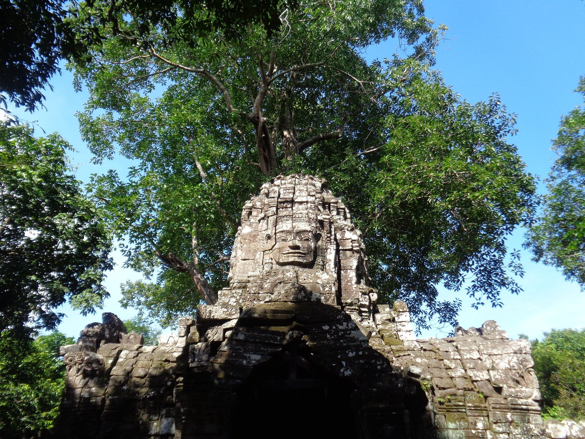 图腾, 石头, 纪念碑, 废墟, 寺, 柬埔寨 - 高清壁纸 - 教授-falken.com