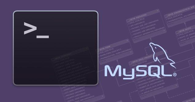 Как экспортировать только структуру базы данных MySQL из командной строки