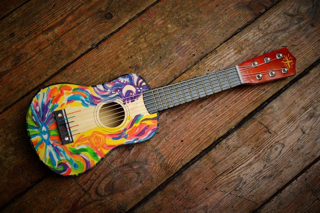 ギター, 図面, カラフルです, 絵画, 木材, 1709020804