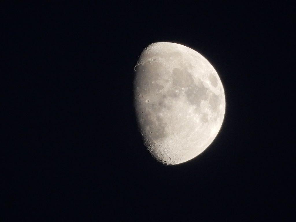 luna, noche, cielo, satelite, brillo, 1709072336
