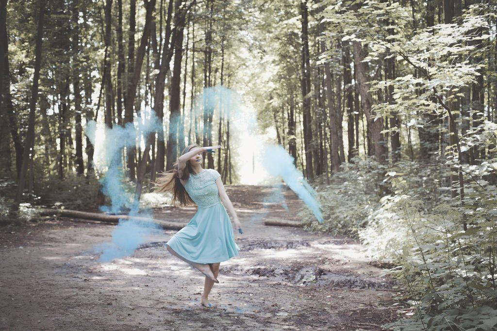 女人, 森林, 穿衣服, 绘画, 树木, 1709080846