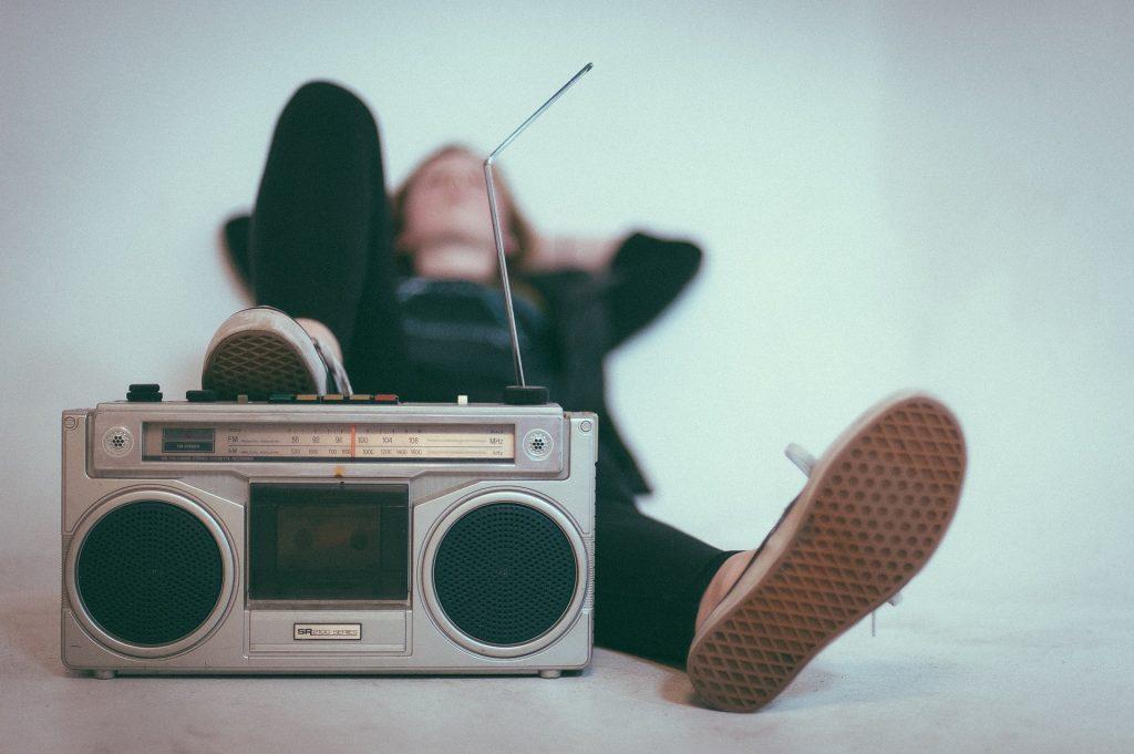ラジオ, アンテナ, 古い, ヴィンテージ, 女性, 1709101343