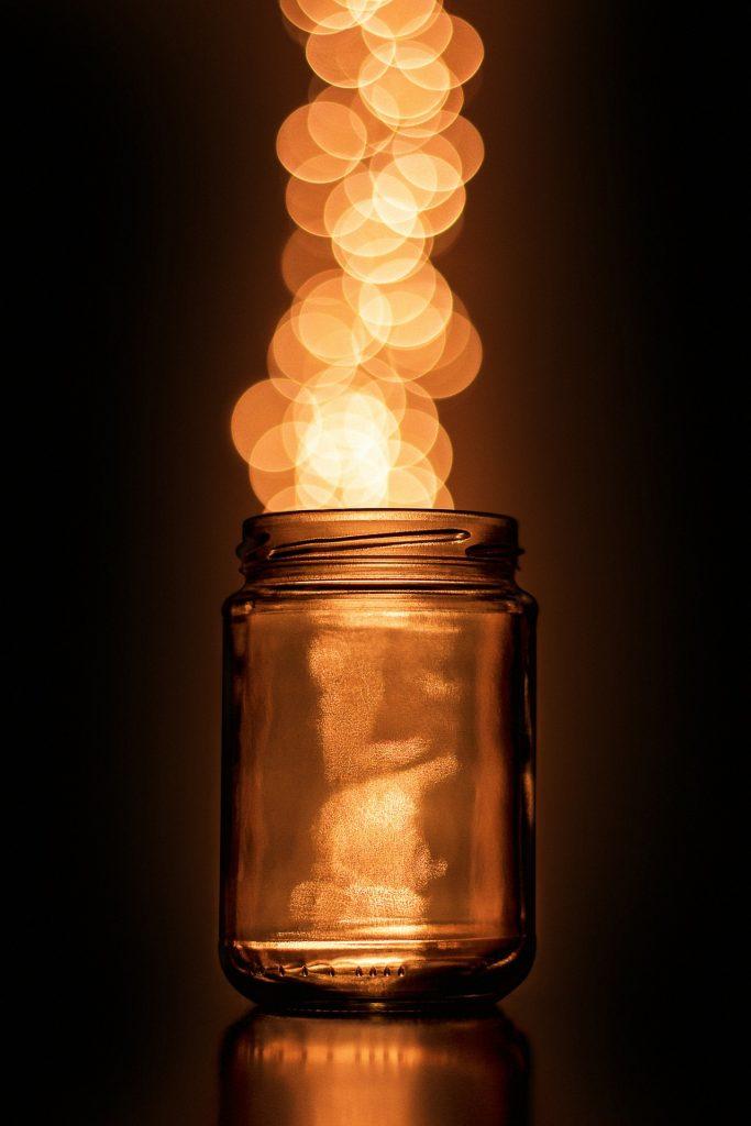 tarro, luces, cristal, halos, brillos, 1709111228