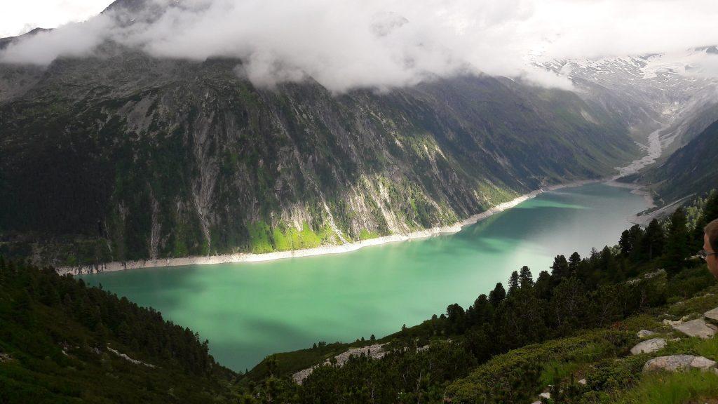 valle, lago, embalse, montañas, nubes, río, 1709201729
