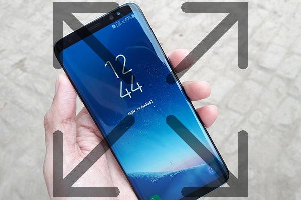 Wie erstelle ich Anwendungen angezeigt werden, um komplett auf Ihr Samsung Galaxy S8 anzuzeigen