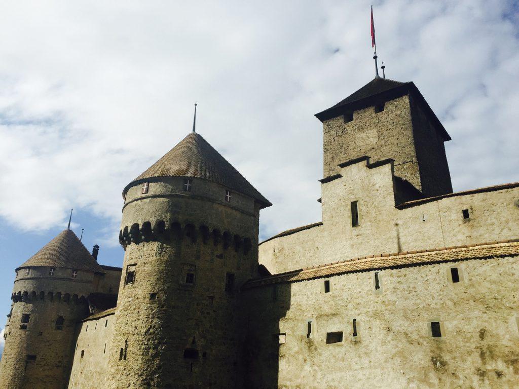 castillo, torres, fortaleza, edificación, suiza, 1710131338