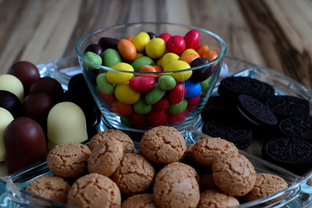 dulces, galletas, bombones, chocolate, postres, variedad, 1710091059