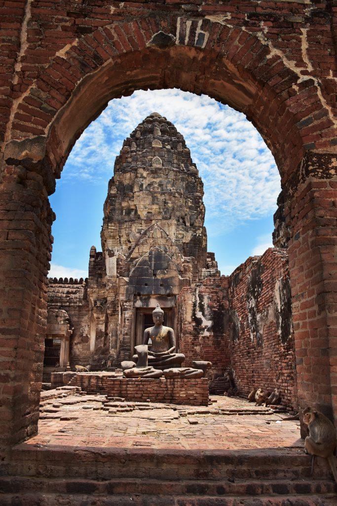 estatua, escultura, templo, antiguo, budismo, tailandia, 1710131718