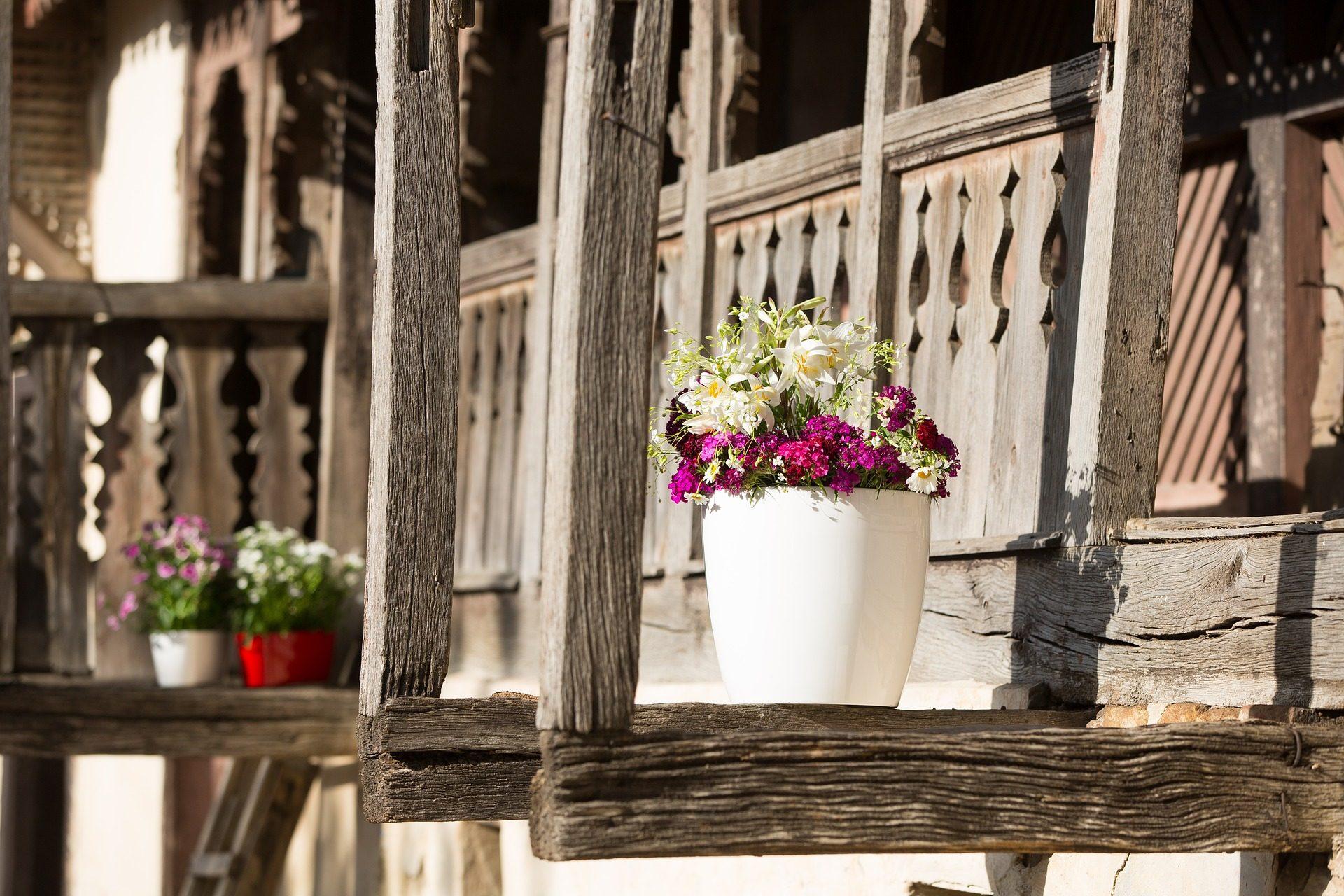 Veranda Holz wallpaper der töpfe pflanzen blumen veranda haus holz