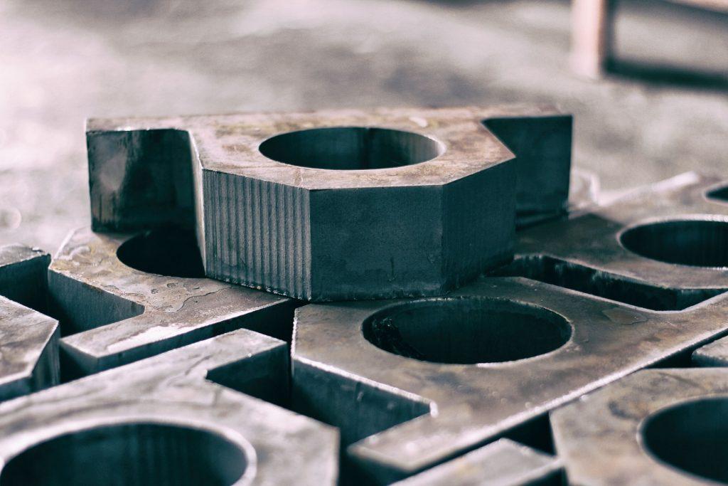 piezas, metálicas, acero, hierro, formas, figuras, 1710051510