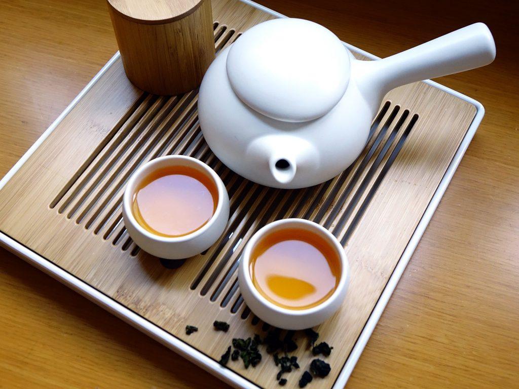 té, tetera, vasos, bandeja, chino, 1710181657