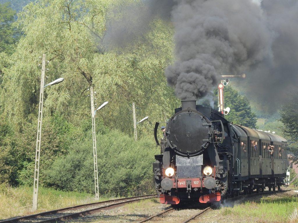 tren, ferrocarril, locomotora, humo, polución, contaminación, 1710120813