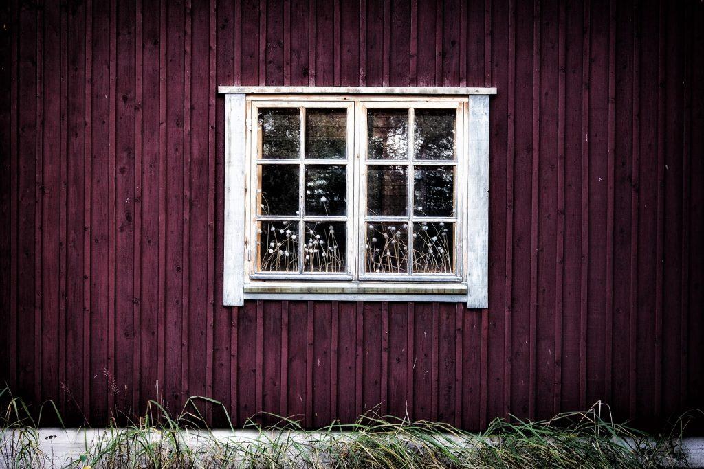 ventana, cristales, reflejo, madera, casa, hierba, 1710231122