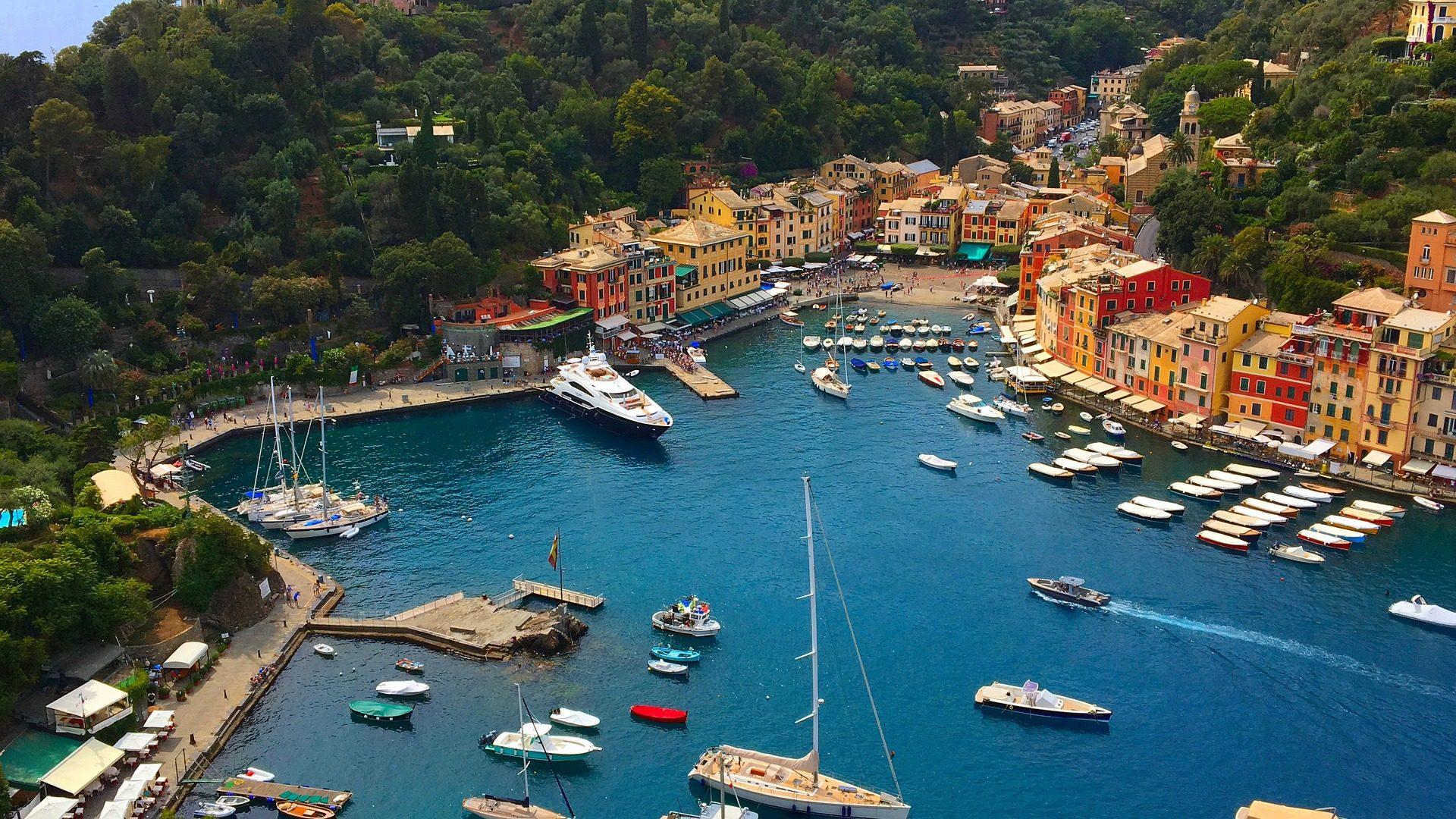 βάρκες, Λιμάνι, Άνοιξη, χωριό, Θάλασσα, δέντρα - Wallpapers HD - Professor-falken.com