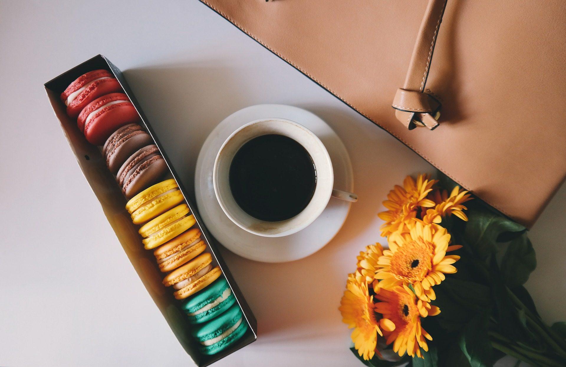 コーヒー, マカロニ, 花, カップ, ポケット, カラフルです - HD の壁紙 - 教授-falken.com