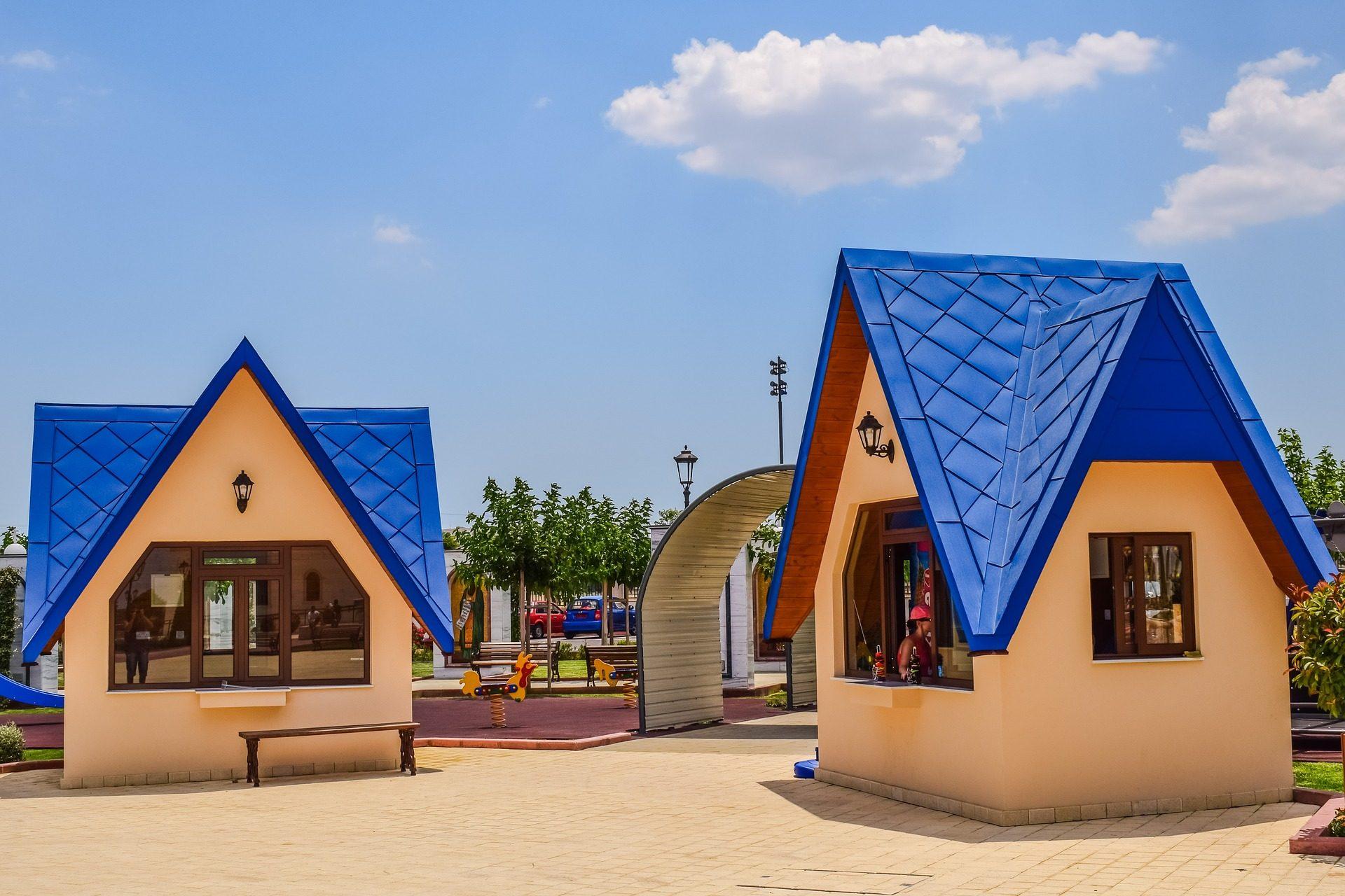 المنازل, كشك, بارك, الطفل, أسقف - خلفيات عالية الدقة - أستاذ falken.com