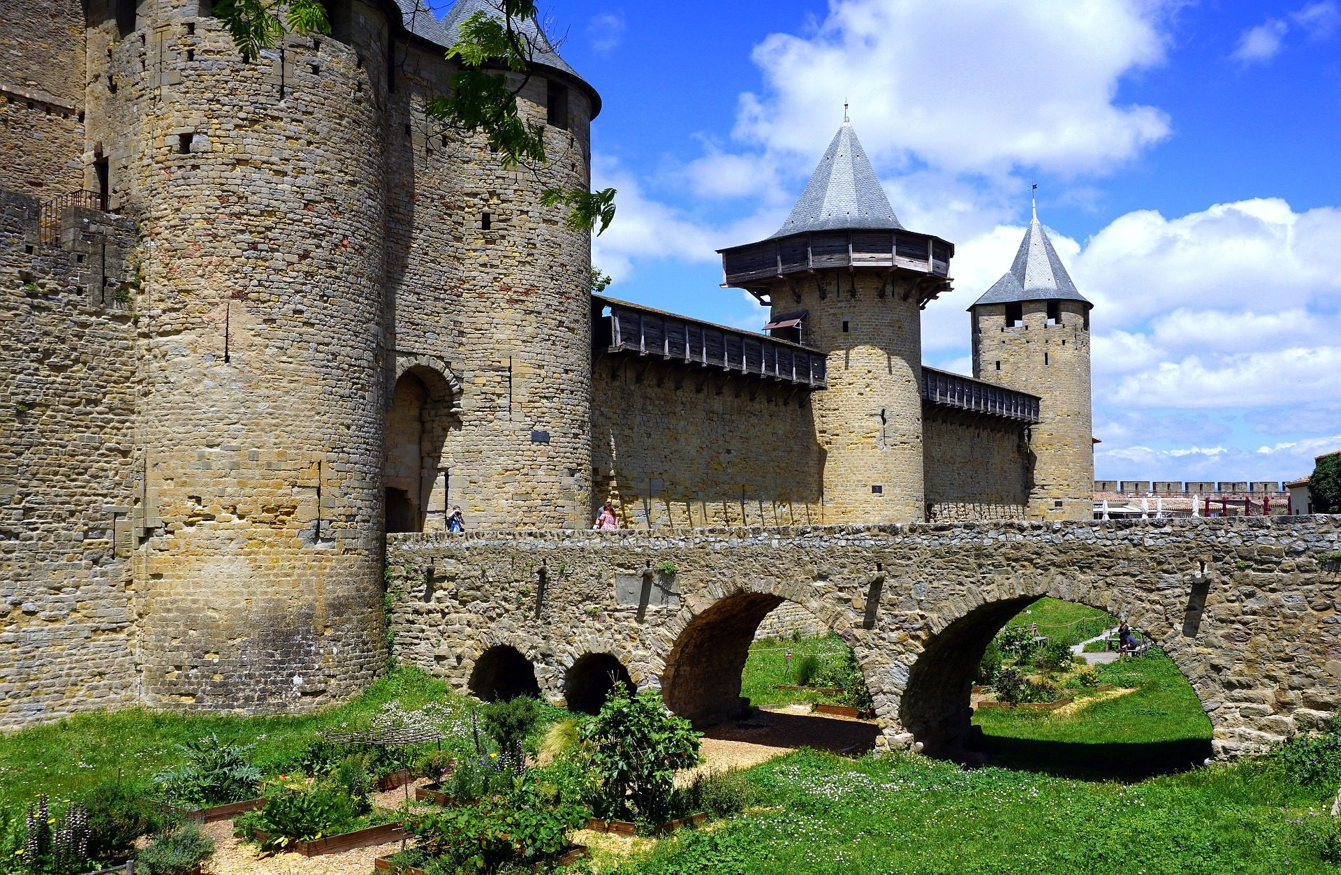 Schloss, Festung, Brücke, Torres, mittelalterliche, Frankreich - Wallpaper HD - Prof.-falken.com