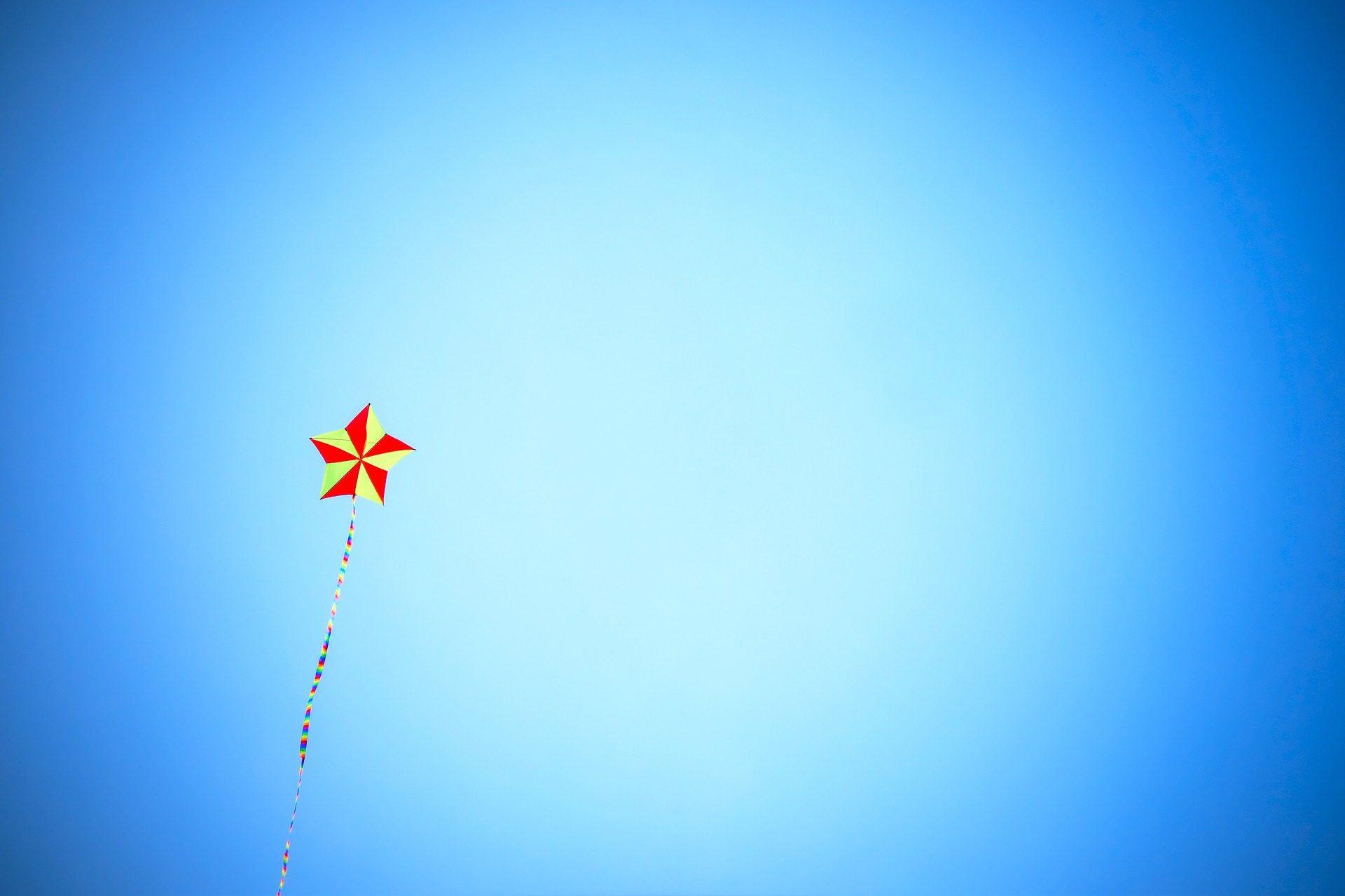 Cielo, aquilone, Star, colorato, volare, gioco - Sfondi HD - Professor-falken.com