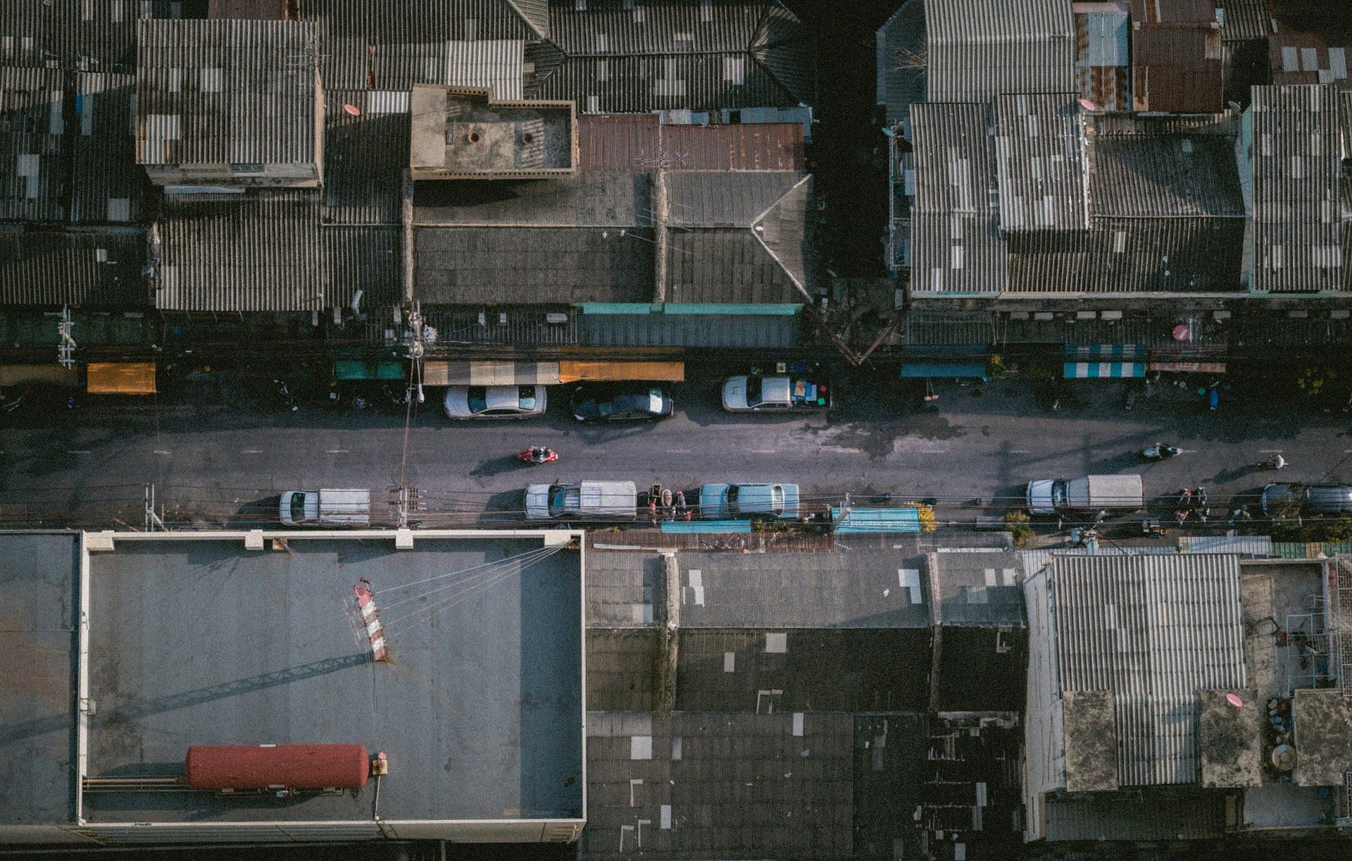 Città, tetti, Strada, Automobili, Case, edifici - Sfondi HD - Professor-falken.com