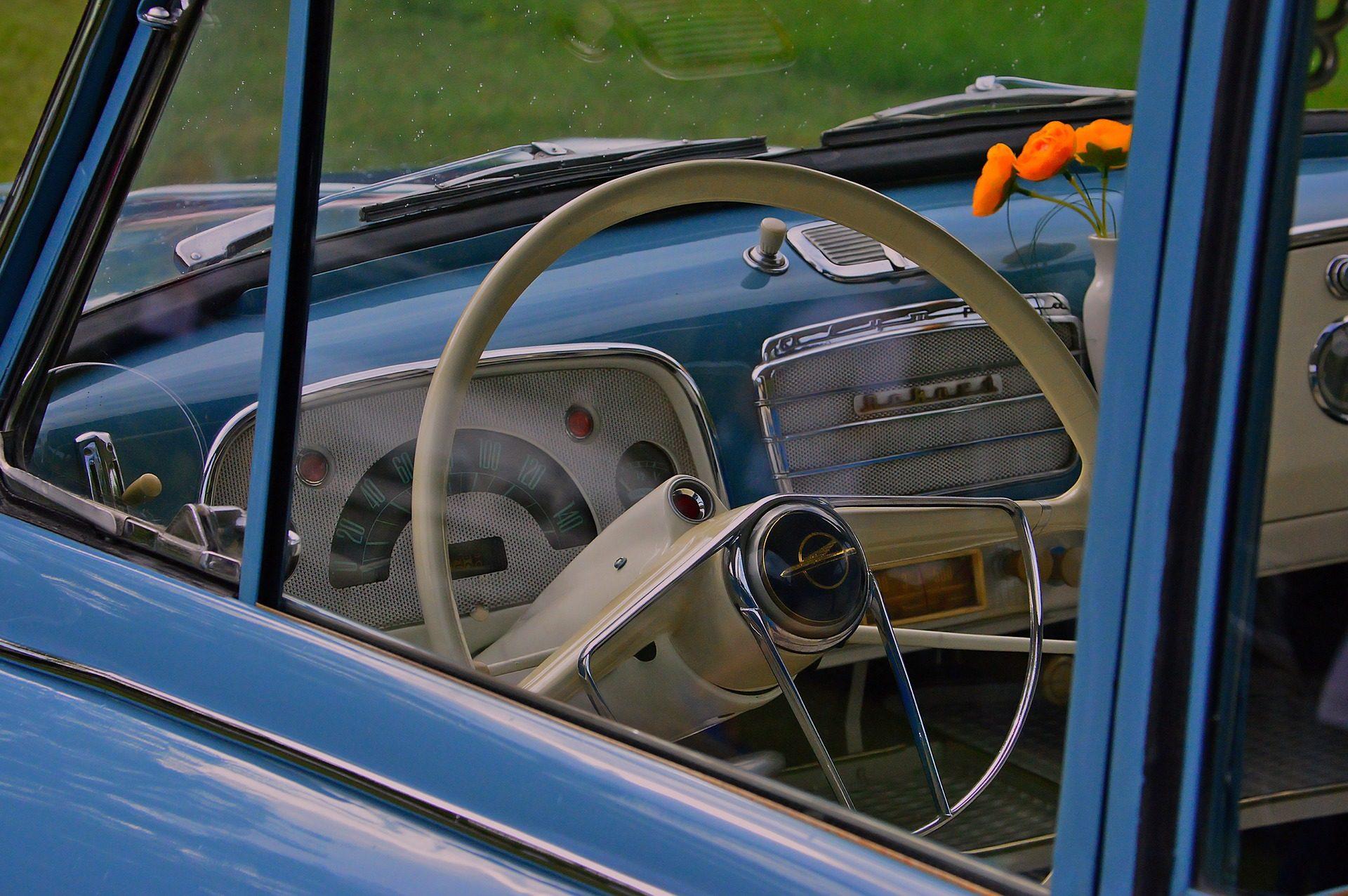 coche, antiguo, clásico, vintage, volante, salpicadero - Fondos de Pantalla HD - professor-falken.com