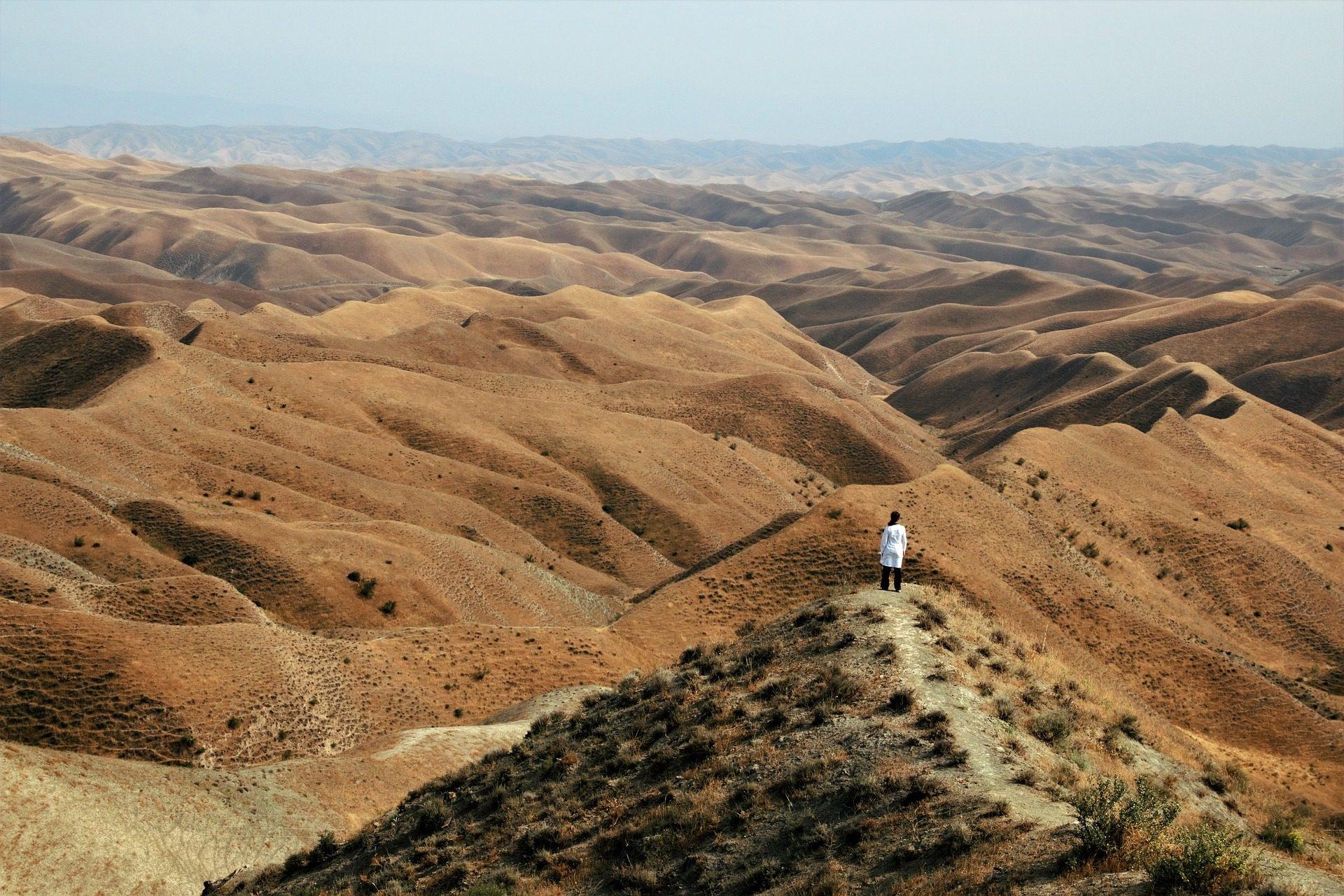 désert, dunes, sable, homme, Nabi khaled, Iran - Fonds d'écran HD - Professor-falken.com
