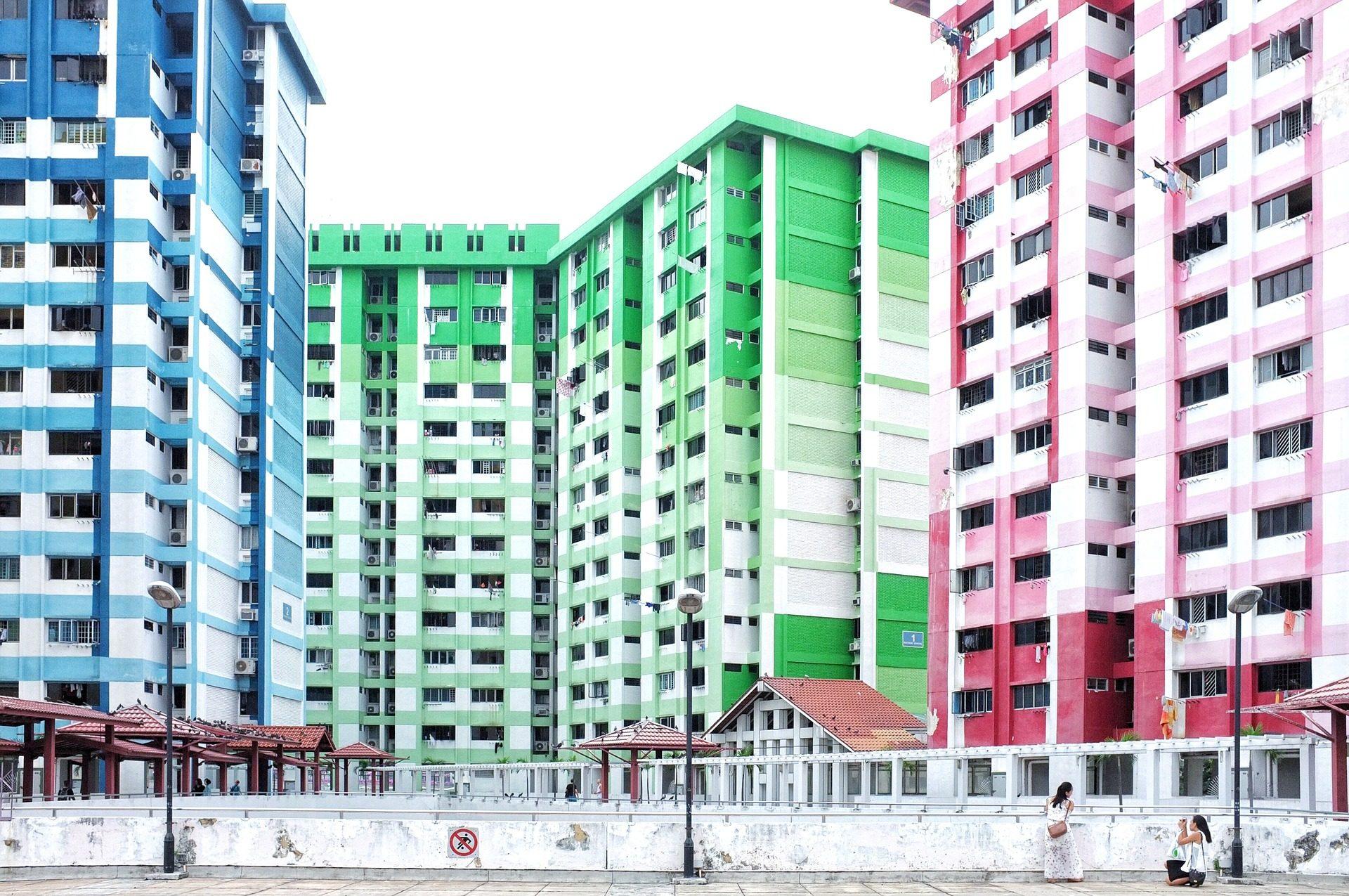 edifici, colorato, residenziale, architettura, Torres - Sfondi HD - Professor-falken.com