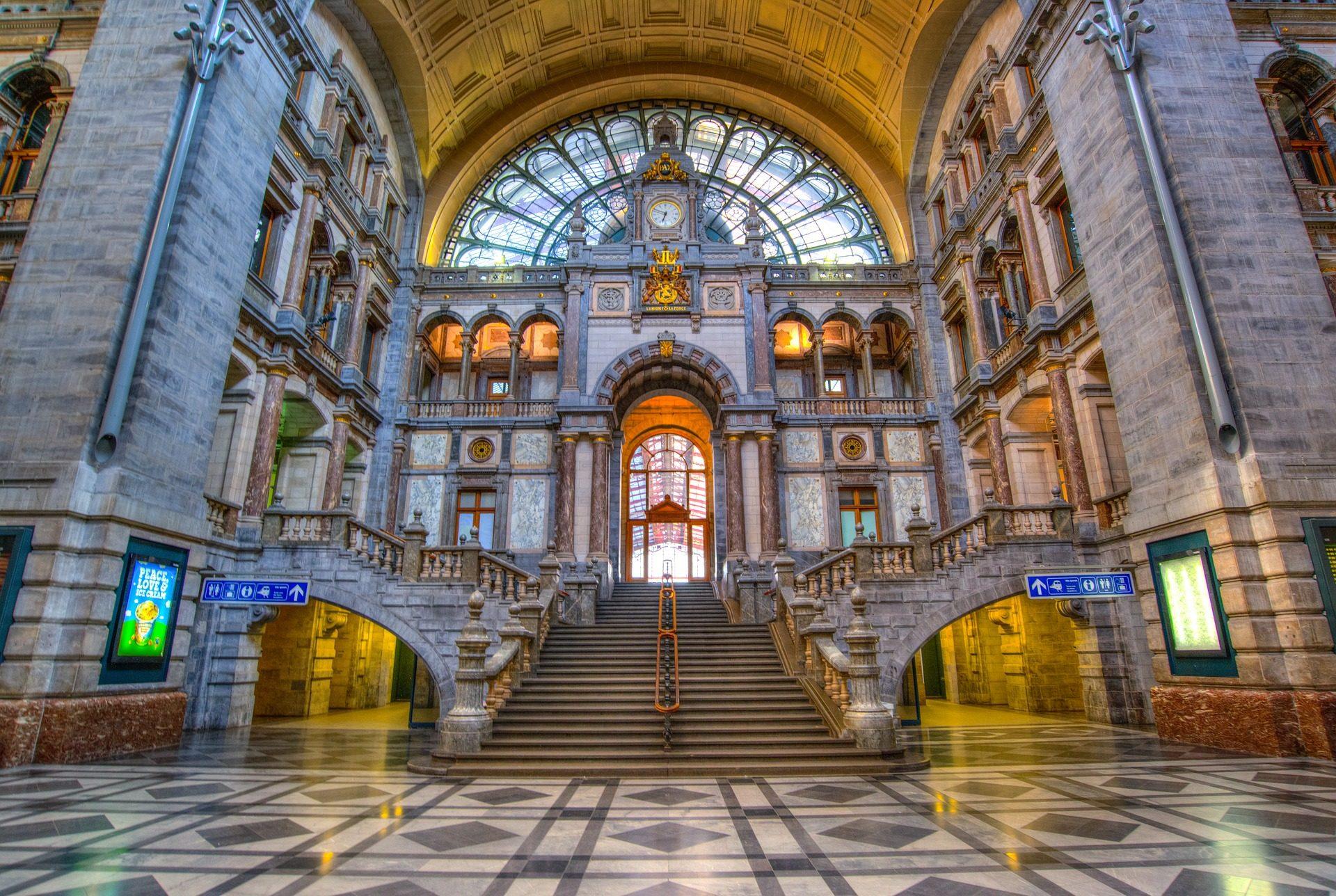 स्टेशन, रेलवे, बिल्डिंग, वास्तुकला, एंटवर्प, बेल्जियम - HD वॉलपेपर - प्रोफेसर-falken.com
