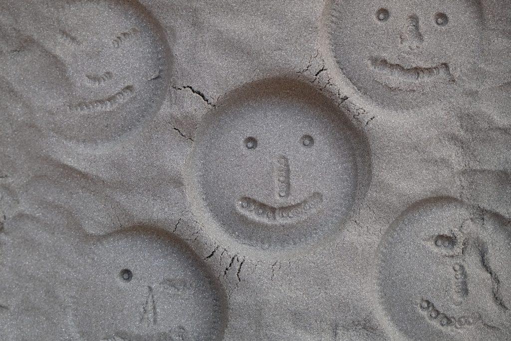 数字, 沙子, 面孔, 微笑, 表情, 1711101408